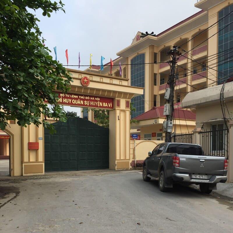 Nhà Sở Chỉ huy Ban CHQS huyện Ba Vì