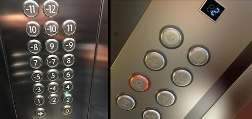 Bảng nút bấm trong thang máy